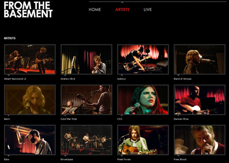 "screenshot van de website ""From the Basement"""